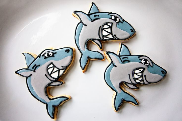 Baked Happy - Sinister Shark Cookies