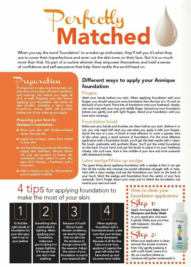 Tips for applying your foundation easily. #Leonique #Annique #FoundationTips #ApplyingFoundationPerfectly
