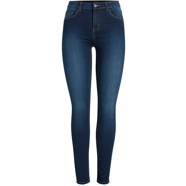 M&Co Pieces Skinny Jeans ($35) ❤ liked on Polyvore featuring jeans, pants, calças, dark denim, distressed jeans, destroyed skinny jeans, blue denim jeans, super skinny jeans and ripped skinny jeans
