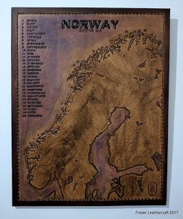 Foster Leathercraft: Map, Norway