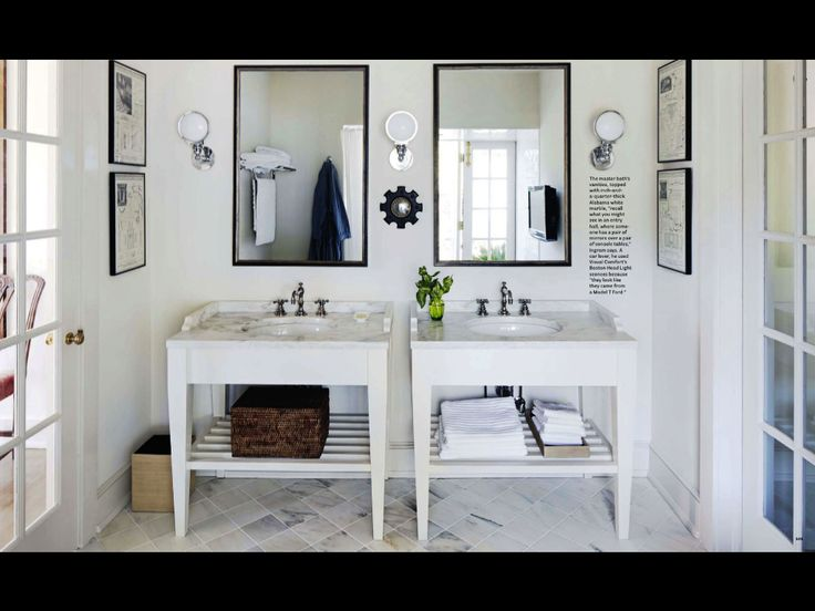 Lovely sinks.  Birmingham architect Bill Ingram's cottage featured in House Beautiful Magazine.