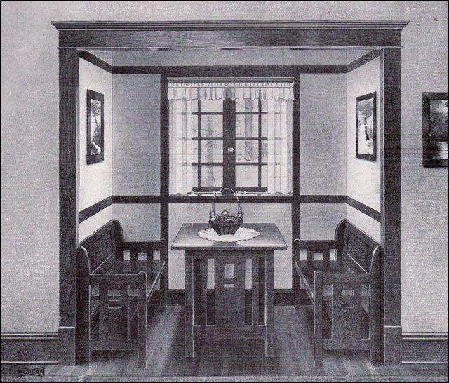 S Craftsman Bungalow Missionstyle Kitchen Nook - Craftsman bungalow kitchen breakfast nooks
