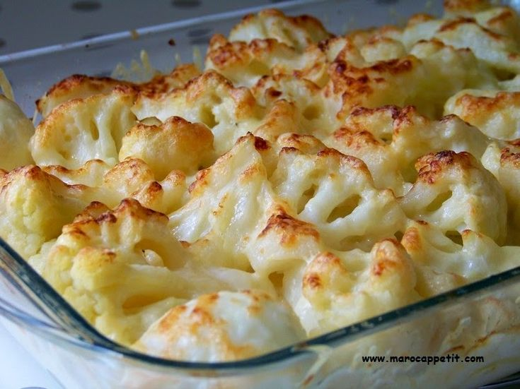Gratin de chou fleur et pommes de terre   Potatoes and flower cabbage gratin