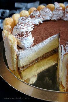 Tiramisù cheesecake senza cottura - No bake tiramisu cheesecake