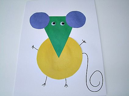 Shape Mouse Crafts For Kids
