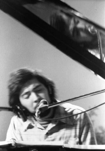 Javier Pacheco at the piano, 1973 :: Festival de Flor y Canto de Aztlan, Films and Photographs, 1973