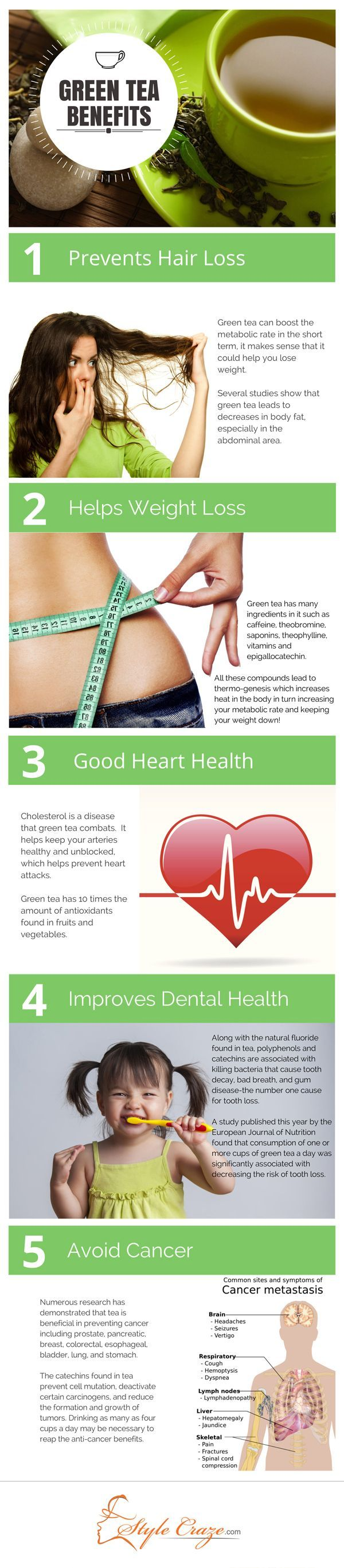 5 Amazing Benefits Of Green Tea  - www.YogaTravelTree.com #findyouryoga