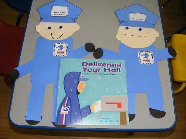Mailman Craft Happy Days Preschool Pinterest Crafts