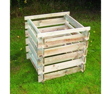Wooden Slatted Composter Small