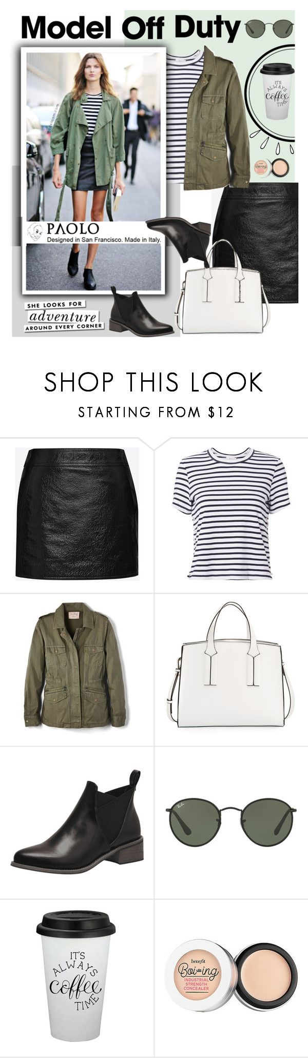 """""""NYC"""" by alyssa-re ❤ liked on Polyvore featuring Yves Saint Laurent, A.L.C., Velvet by Graham & Spencer, French Connection, Ray-Ban, Old Navy and Kate Spade"""
