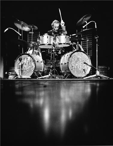 Ginger Baker—Baker was one-third of '60s powerhouse Cream. Possessed of a bombastic, explosive style, Baker's playing was often overshadowed by guitarist Eric Clapton and bassist Jack Bruce's equally explosive battles of ego.