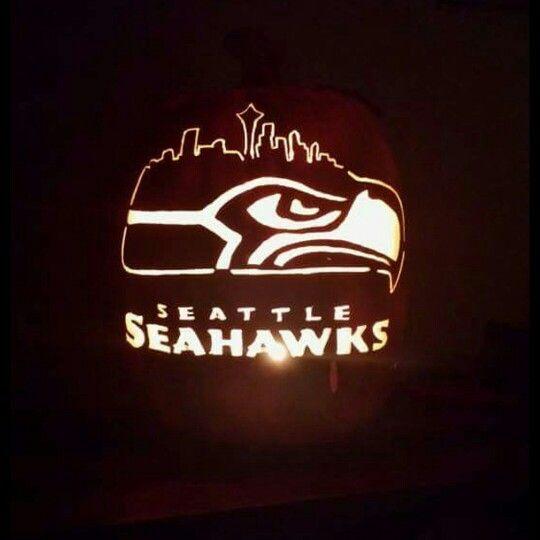 Seattle Seahawks Custom Foam Pumpkin Carving By Kira Smith