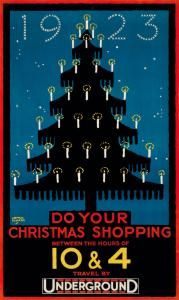 1923. Do Your Christmas Shopping Between the Hours of 10 & 4 . Underground.