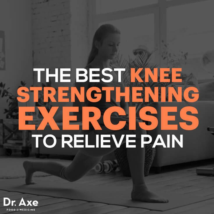 Knee pain can be caused by many things such as arthritis and past injuries. You can try using the exercises mentioned in this article to strengthen the knees and manage pain associated with your condition. https://draxe.com/knee-strengthening-exercises/