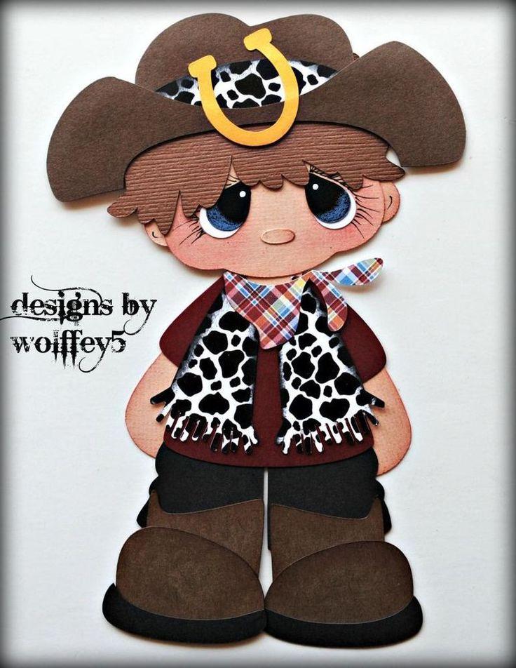 ELITE4U COWBOY paper piecing premade scrapbook page die cut album WOLFFEY5 in Paper Piecing | eBay