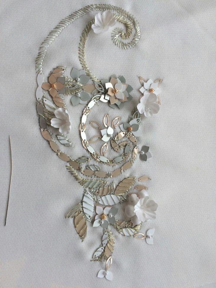 Alessandra Servi, работает дизайнером по вышивки в модном доме #Ralph&Russo в Лондоне