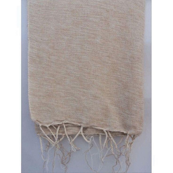 Himalayan Yak Wool Plain Handmade Camel White Shawl , Nepal