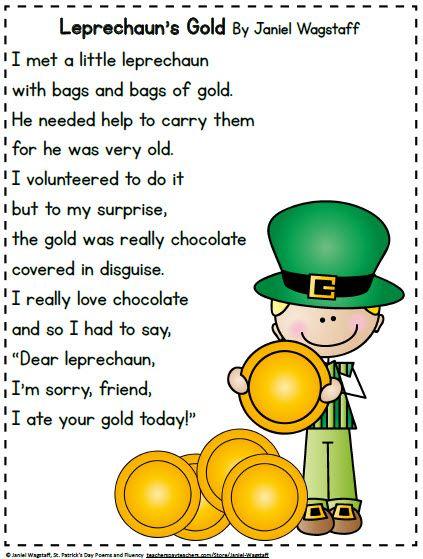 Just loaded a FREEBIE: St. Patrick's Day poems and fluency practice.  Enjoy! https://www.teacherspayteachers.com/Product/FREE-St-Patricks-Day-Leprechaun-Poems-and-Fluency-Practice-K-3-2443590