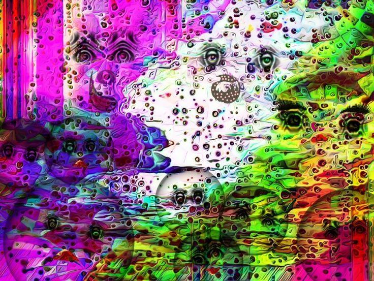 Estampa de #cienciaficcion creada con el #gimp. Habitantes de un #planeta de otra dimension en el que junto con otros #seres fantasticos prolifera la especie de los cara bola. Ver más en: www.librecreacion.net www.sirenasinmar.blogspot.com www.facebook.com/SugarherArts