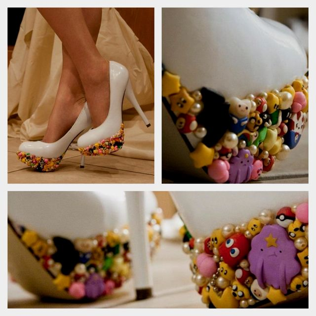 The most perfect geek wedding shoes ever! Love them ❤ #geekchic