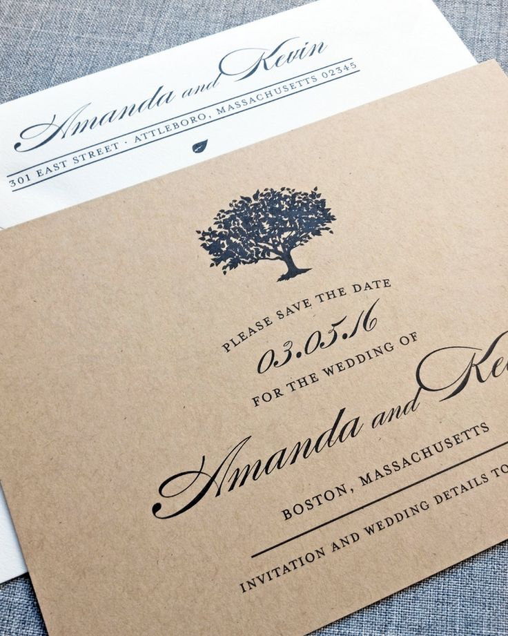 Charming wedding invitation