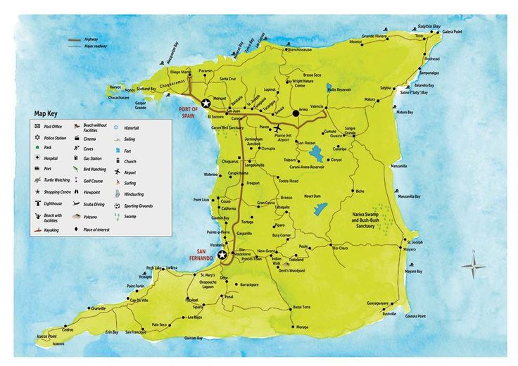 Image result for map of trinidad