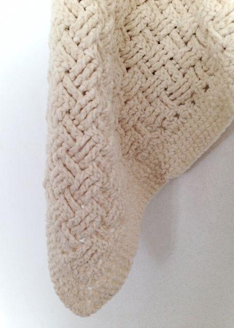 Hæklede gæstehåndklæder i 100% bomulds chenille