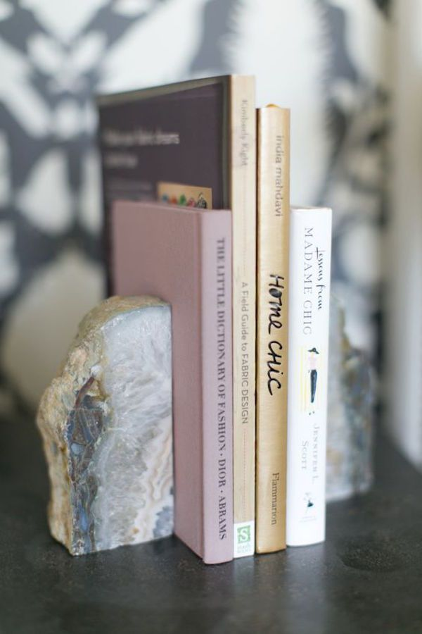 Agate book ends - 8 Ways To Surround Your Home With Crystal Energy » In My Sacred Space