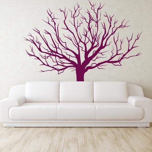 barren tree wall sticker mural tree stencil for wall on wall stickers id=67443