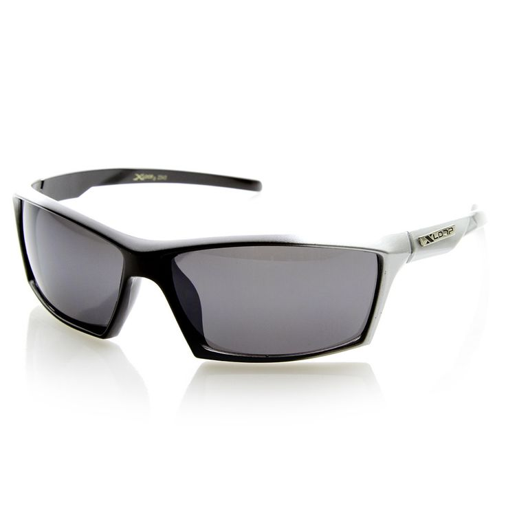 X-Loop Brand Eyewear Two-Tone Modified Square Frame XLoop Sports Sunglasses