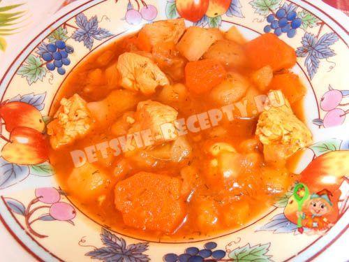 Детское овощное рагу с кабачком и курицей - рецепт с фото | ДЕТСКИЕ РЕЦЕПТЫ, БЛЮДА