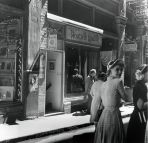 Henriette Lamotte hat salon, 27 Rowe Street c1950