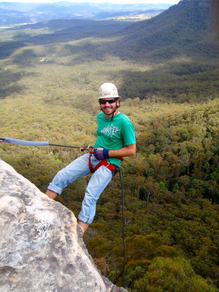 Abseiling in the Blue Mountains, NSW, Australia #greatwalker