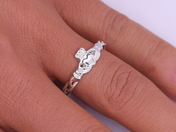 Claddagh ring ladies silver claddagh ring on by IrishJewelryDesign