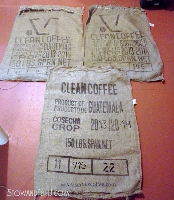 how-to-wash-burlap-coffee-sacks-http://www.stowandtellu.com