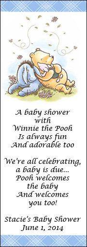 166 best winnie the pooh baby shower and nursery ideas images on personalized winnie the pooh baby shower bookmarks sleepy pooh vintage negle Images