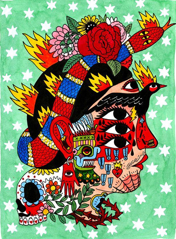 Ricardo Cavolo - ilustrações tatuadas