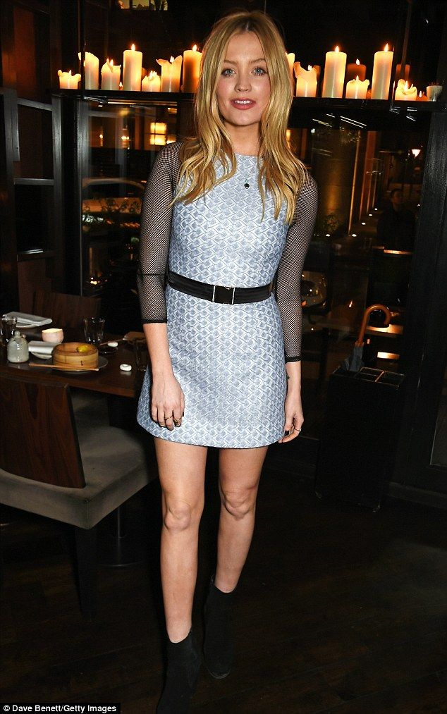 High-fashion: In one of her trademark trendy touches however, the dress was then finished ...