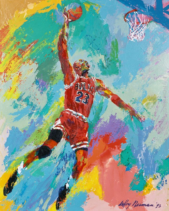 LeRoy Neiman - Michael Jordan print