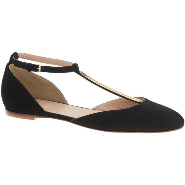 J.Crew Pre-order D'Orsay T-strap ballet flats found on Polyvore