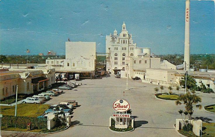 vintage san antonio buildings 1960s | Vintage 1960s Postcard; Pearl Brewing Co., San Antonio TX ...