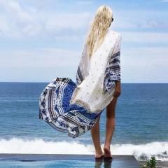 [ 19% OFF ] Maternity Swimsuit Cover Pregnant Women Summer Swimwear Pregnancy Beach Cover Up Bikini Cardigan Beachwear Sarong Pareo S33