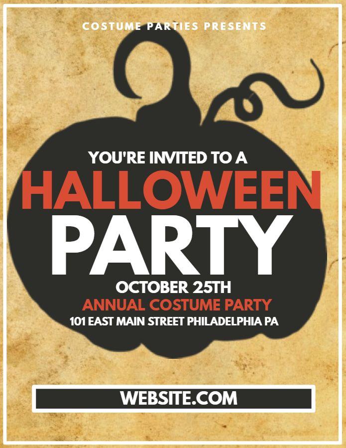 Halloween Costume Contest Flyer Template Cartoonsite