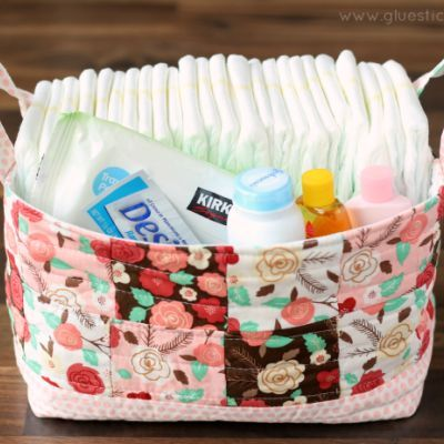 DIY Fabric Baskets: perfect baby shower gift or gift/storage basket!