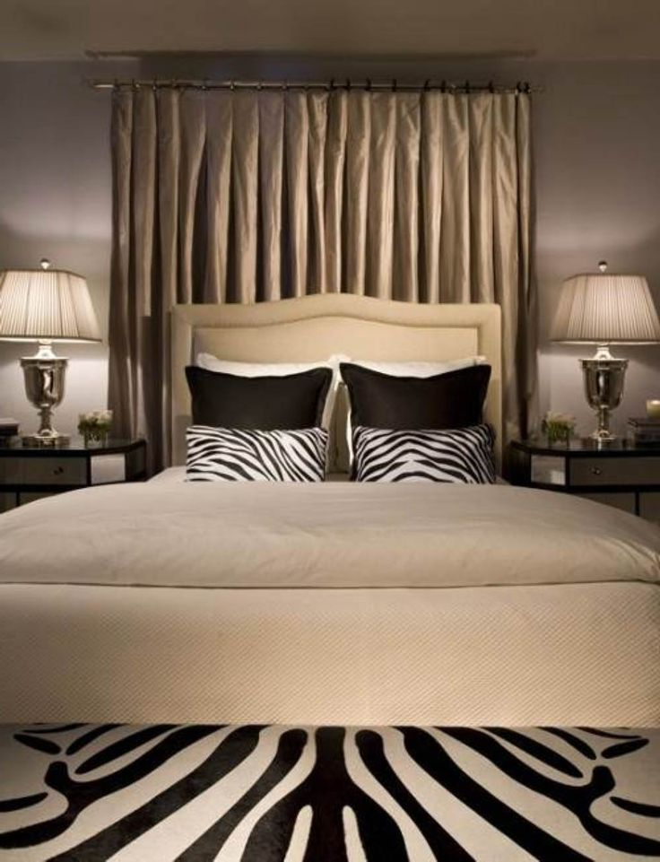Bold Zebra Print Bedroom Ideas