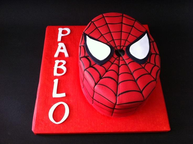 Tarta de Spiderman elaborada por TheCakeProject en Madrid