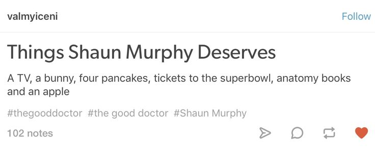 Shaun Murphy deserves the world. 🌎💕💫