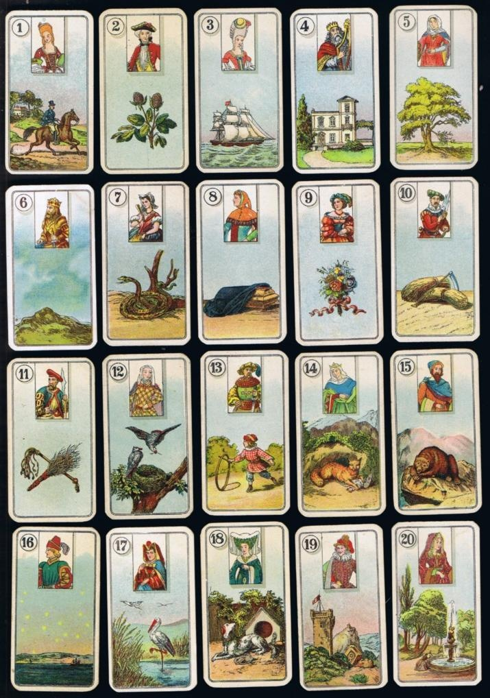 Image detail for -Vintage 85yrs Cigarette Card Fortune Telling Tarot Type