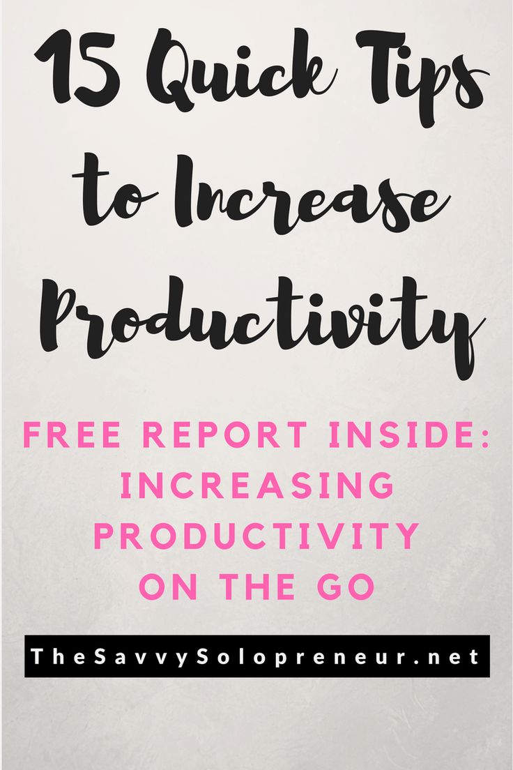 How To Increase Productivity and Rock Your Online Business: Plus a free report on increasing productivity on the go