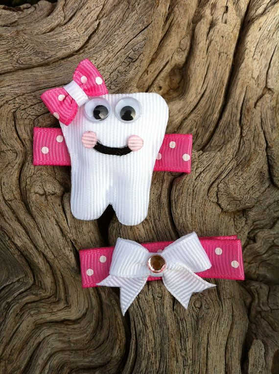 Baby's First Tooth Ribbon Sculpture Set by patyg13 on Etsy, $5.00